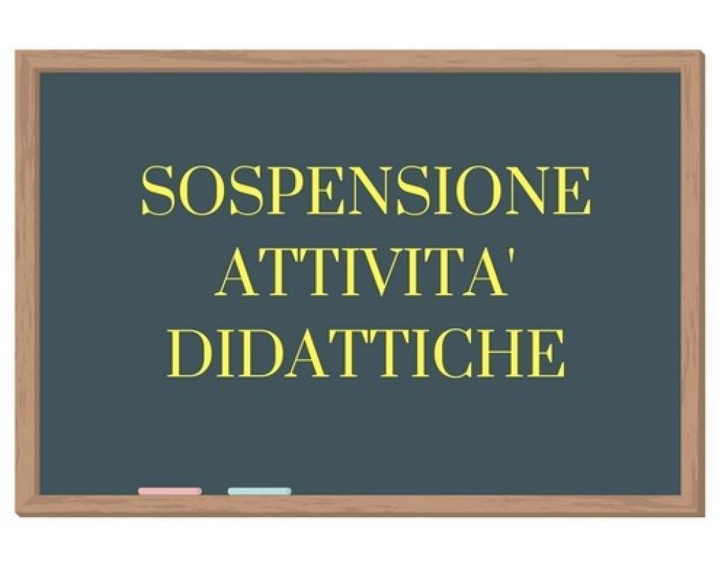 SOSPENSIONE ATTIVITA' DIDATTICHE IN PRESENZA DA...