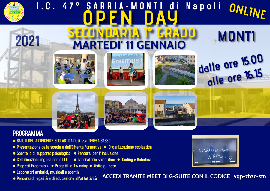 OPEN DAY SECONDARIA 2021