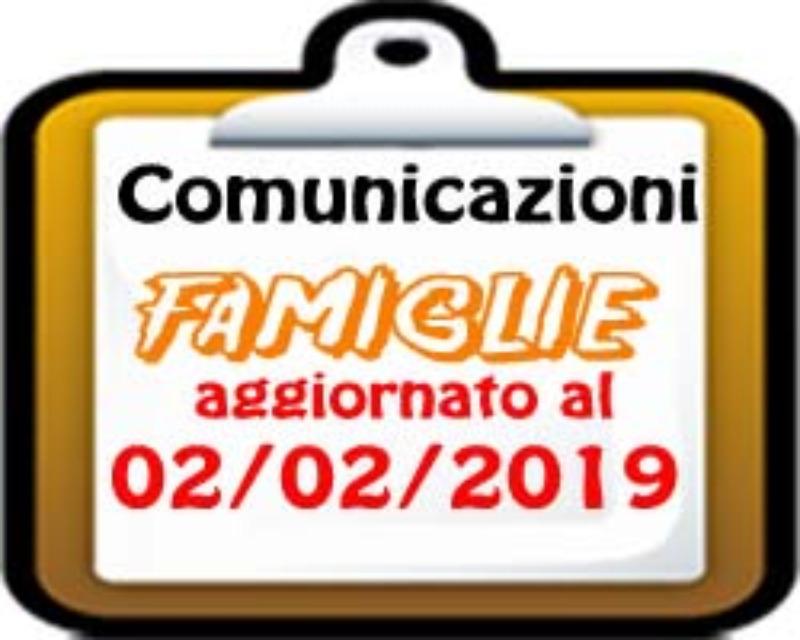 Comunicazioni  per le Famiglie